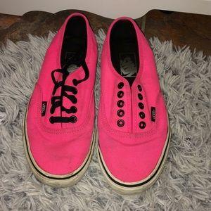 Neon Pink Vans💖